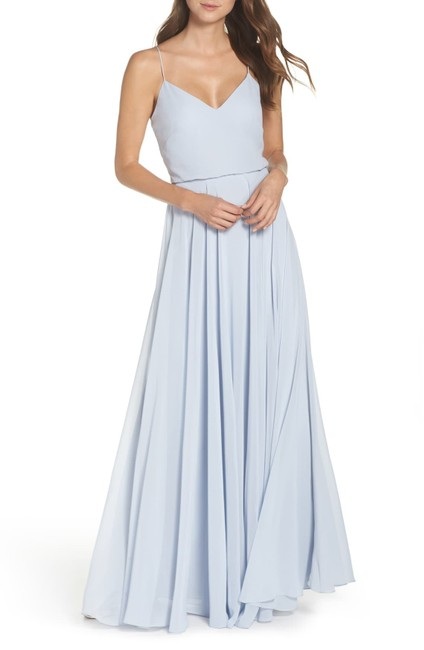 Item - Whisper Blue Inesse Chiffon Bridesmaids Gown Long Formal Dress Size 12 (L)