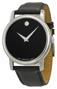 Movado Black Museum Dial 38mm Stainless Steel 2100002 Swiss Made Quartz