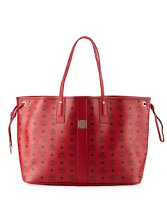 MCM Tote in Bright Red