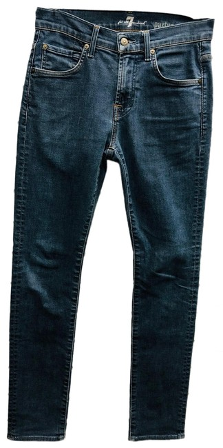 Item - Blue Medium Wash Paxtyn Stretch Cotton Skinny Straight Leg Jeans Size 28 (4, S)