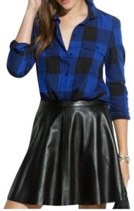 Madewell Button Down Shirt Black and blue