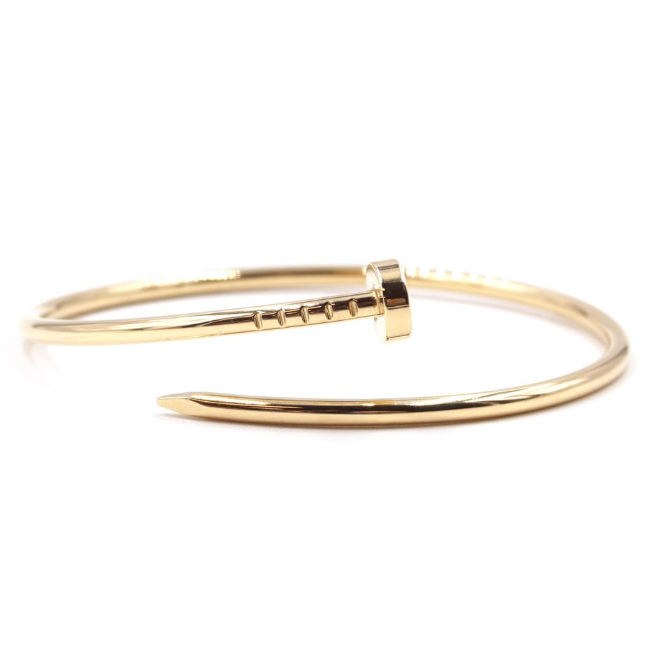 7c09c43c7b5fe Cartier #31306 Yellow Gold 18k 750 Juste Un Clou Sm Bangle Cuff Size 17  Bracelet 6% off retail