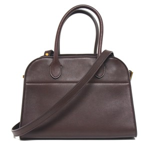 The Row Margaux 10 Natural Calfskin Tote in Red