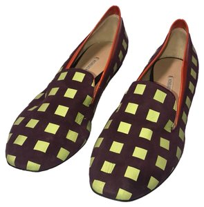 Nicholas Kirkwood Purple / Orange / Lime Green Flats