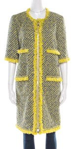 Louis Vuitton Tweed Cotton Polyester Trench Coat