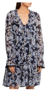 Temperley London short dress Blue Cocktail Party Floral on Tradesy