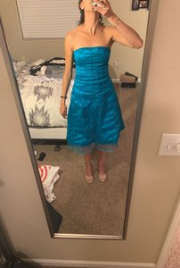 Rubber Ducky Productions, Inc. Turquoise Bright Cocktail Destination Bridesmaid/Mob Dress Size 0 (XS)