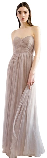 Item - Mink Gray Anabelle Convertible Gown Long Formal Dress Size 12 (L)