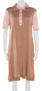 Beige Maxi Dress by Louis Vuitton Silk Cotton Polyester Knit