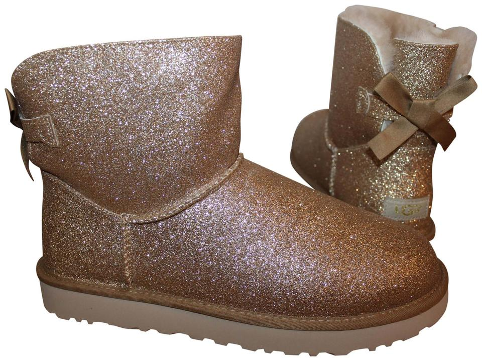 a1a079f4377 UGG Australia Gold Bailey Bow Mini Sparkle Boots/Booties Size US 11 Regular  (M, B) 32% off retail