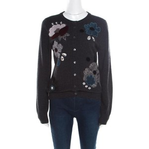 Dolce&Gabbana Embellished Floral Cotton Silk Cardigan