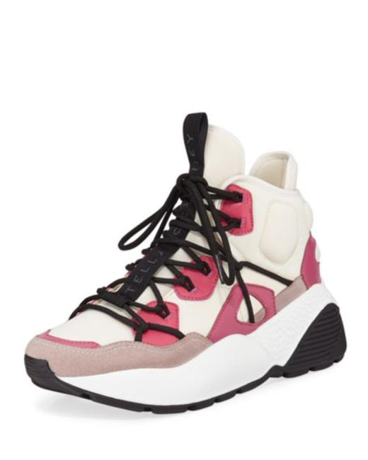 Item - White and Pink High-top Platform Trainer Sneakers Size US 7 Regular (M, B)