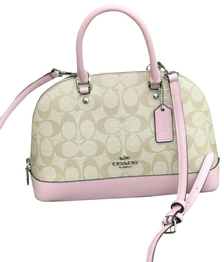 Preload https://img-static.tradesy.com/item/25703262/coach-sierra-mini-signature-dome-purse-f27583-carnation-khaki-pink-coated-canvas-satchel-0-1-540-540.jpg