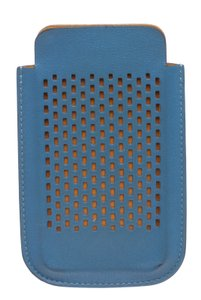 Hermès Hermes Blue Perforated Leather iPhone 4 Case