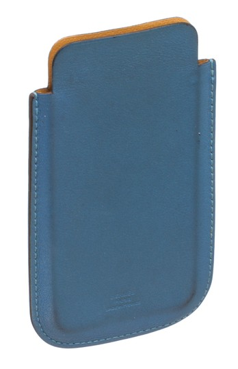 Hermès Hermes Blue Perforated Leather iPhone 4 Case Image 2
