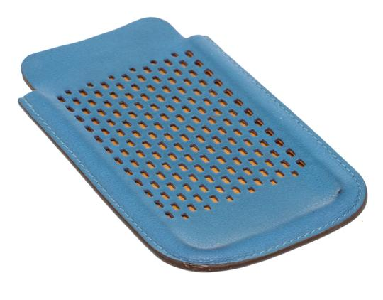 Hermès Hermes Blue Perforated Leather iPhone 4 Case Image 3