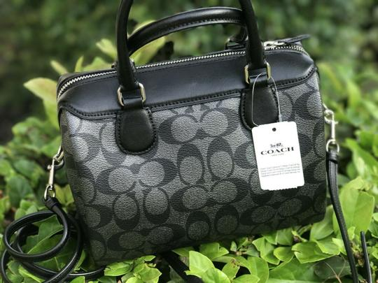 Coach Satchel in Black and Gray Image 1