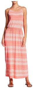 Coral, White Maxi Dress by Fourteenth Place