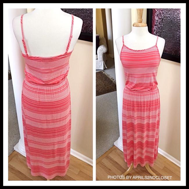 Coral, White Maxi Dress by Fourteenth Place Image 4