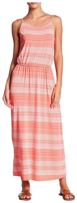 Preload https://img-static.tradesy.com/item/25703372/coral-white-nautical-striped-stretchy-summer-tank-long-casual-maxi-dress-size-14-l-0-1-650-650.jpg