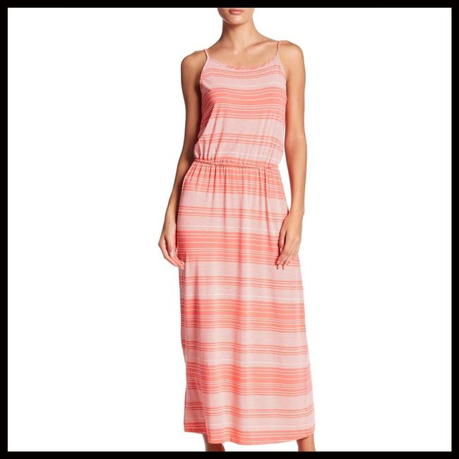 Coral, White Maxi Dress by Fourteenth Place Image 2