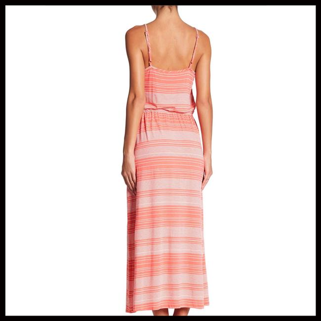 Coral, White Maxi Dress by Fourteenth Place Image 3