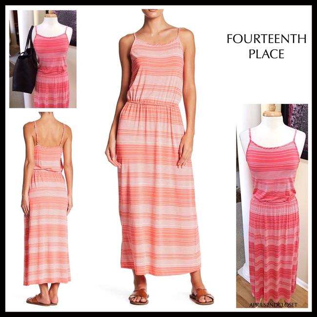 Coral, White Maxi Dress by Fourteenth Place Image 8