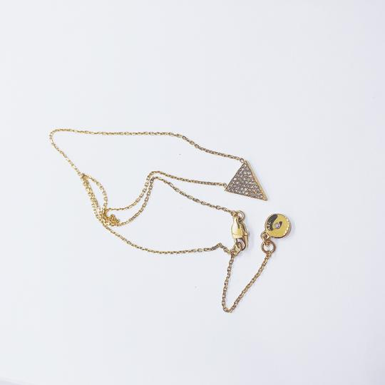 Michael Kors MK Crystals Pave Triangle Gold Pendant Minimalist Necklace Image 2