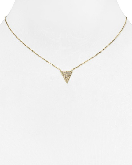 Michael Kors MK Crystals Pave Triangle Gold Pendant Minimalist Necklace Image 4