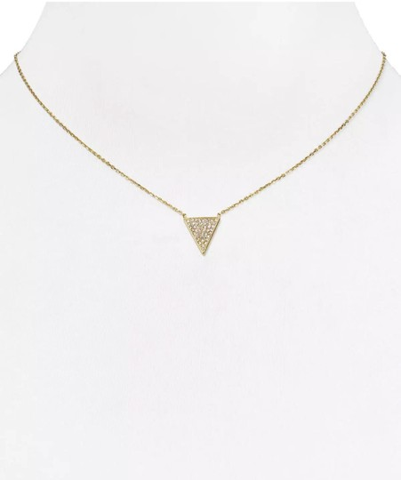 Michael Kors MK Crystals Pave Triangle Gold Pendant Minimalist Necklace Image 6