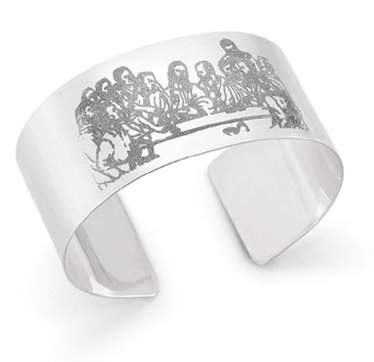 Apples of Gold LAST SUPPER CUFF BRACELET, STERLING SILVER Image 1