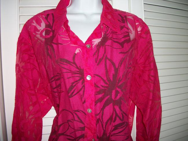 Chico's 2 Pc And Black Top magenta/red Image 1