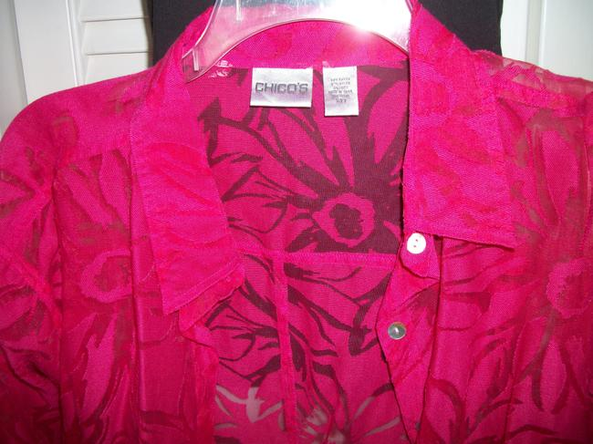 Chico's 2 Pc And Black Top magenta/red Image 2