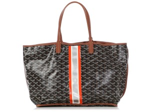 Goyard Gy.q0607.12 Monogram Striped Reversible Reduced Price Tote in Black