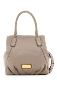 Marc by Marc Jacobs New Q Pebbled Leather Shoulder/Satchel Style # M0009406 Satchel in Cement