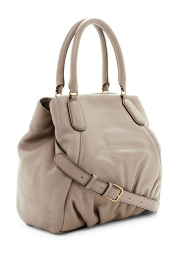 Marc by Marc Jacobs New Q Pebbled Leather Shoulder/Satchel Style # M0009406 Satchel in Cement Image 1