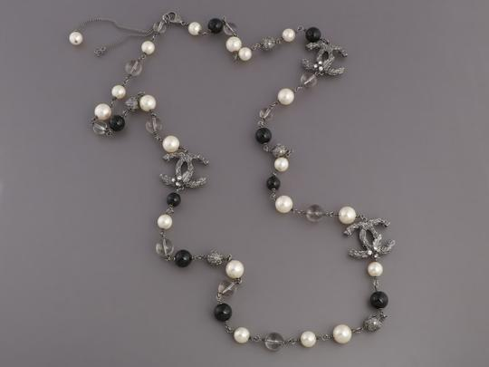 Chanel BEAD, PEARL, AND CRYSTAL LOGO LONG NECKLACE Image 1