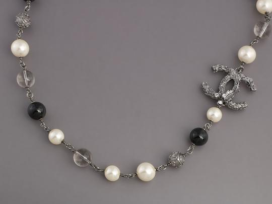 Chanel BEAD, PEARL, AND CRYSTAL LOGO LONG NECKLACE Image 2
