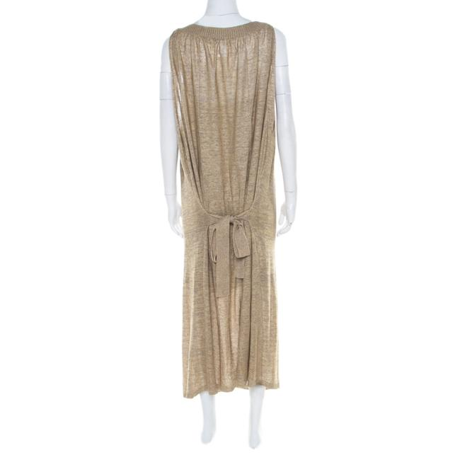 Beige Maxi Dress by Sonia Rykiel Knit Perforated Image 1