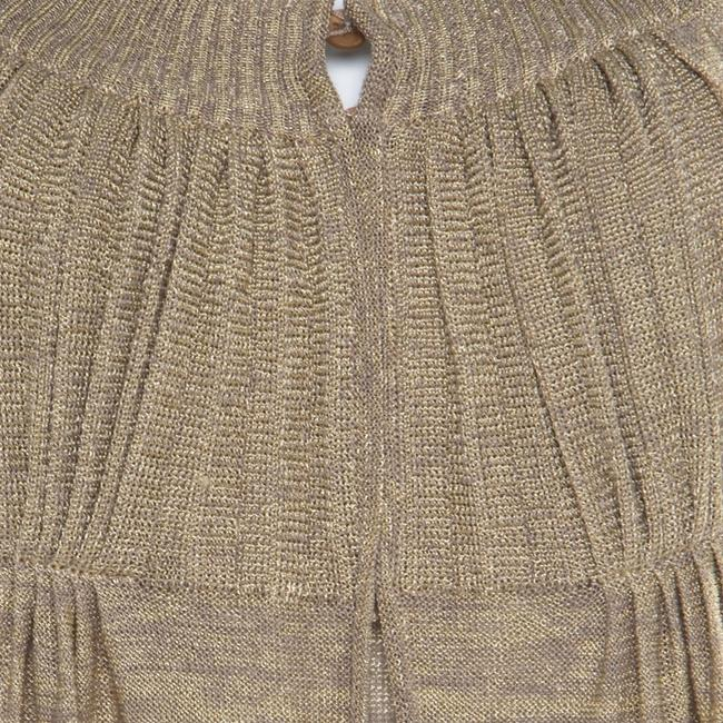 Beige Maxi Dress by Sonia Rykiel Knit Perforated Image 4