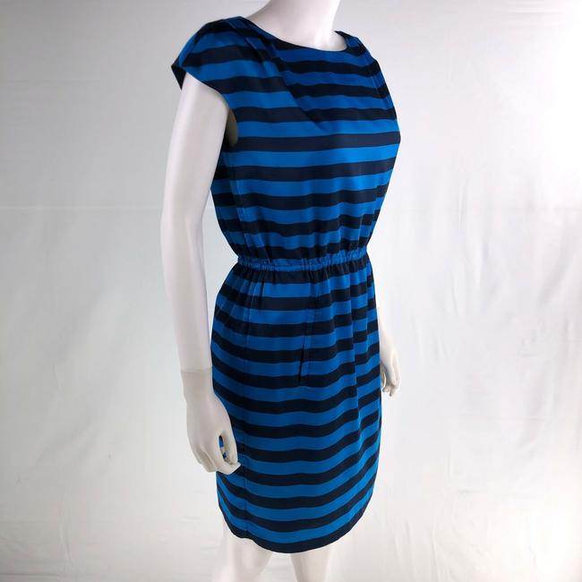 Vince Camuto Size 4 Blue Sleeveless Knee Length Dress Image 3