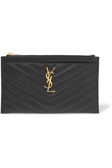 Preload https://img-static.tradesy.com/item/25703587/saint-laurent-monogram-quilted-pouch-black-textured-leather-wristlet-0-0-540-540.jpg