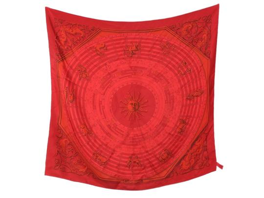 Preload https://img-static.tradesy.com/item/25703621/hermes-red-dip-dye-astrologie-silk-90cm-scarfwrap-0-0-540-540.jpg
