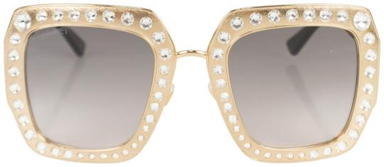 Preload https://img-static.tradesy.com/item/25703639/gucci-gold-crystal-encrusted-oversized-square-frame-sunglasses-0-1-540-540.jpg