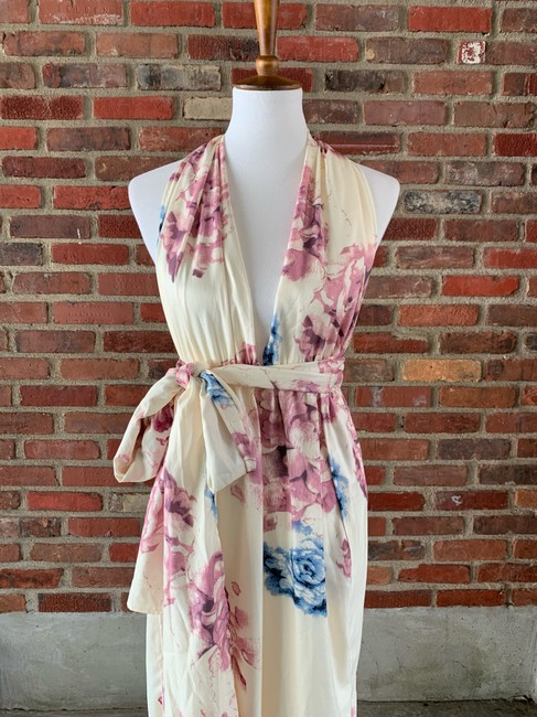 cream, floral Maxi Dress by Lilac Shade Image 1