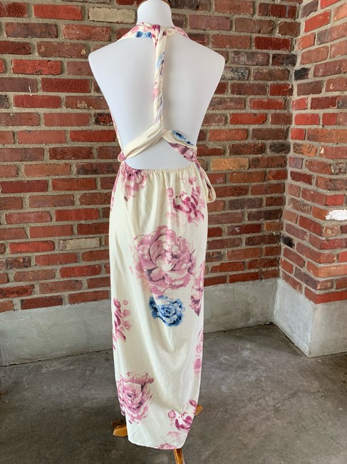 cream, floral Maxi Dress by Lilac Shade Image 2