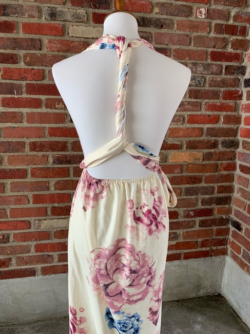 cream, floral Maxi Dress by Lilac Shade Image 3