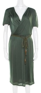 Gucci Belted Plunge Dress