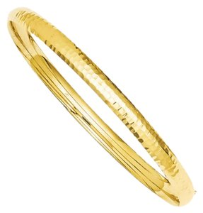 Apples of Gold 14K GOLD HAMMERED HINGED BRACELET (3/16