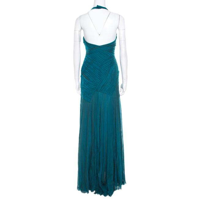 Green Maxi Dress by Victoria Emerson Detail Halter Image 1